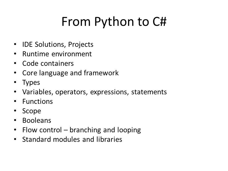 Standard modules/libraries Python Standard modules – sys – os – os.path – urllib – xml – shutil – glob – etc.