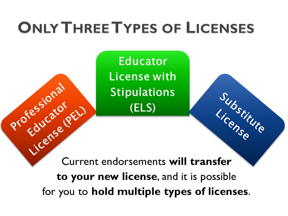 Current endorsements will transfer to your new license, and it is possible for you to hold multiple types of licenses.