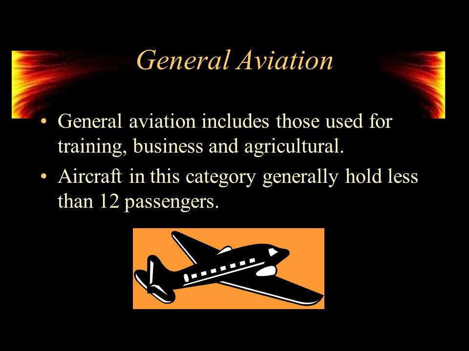Types of Aircraft Aircraft are categorized according to their intended purpose.