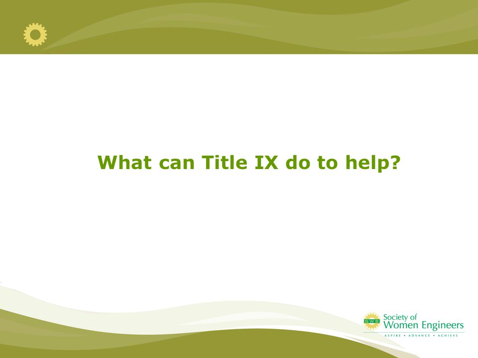 What can Title IX do to help?