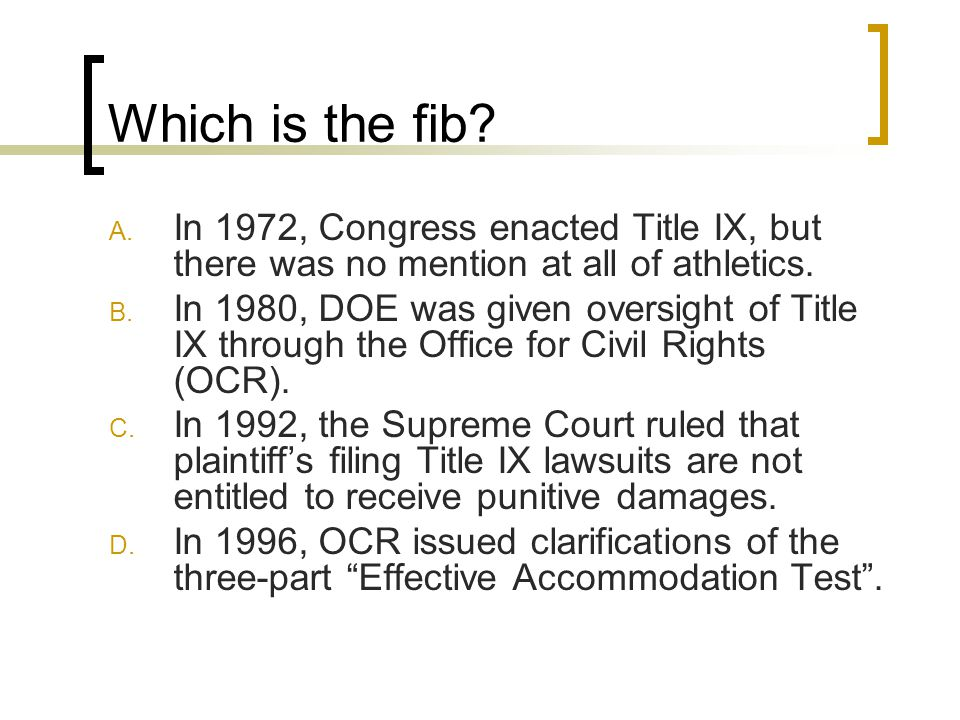Which is the fib. A.