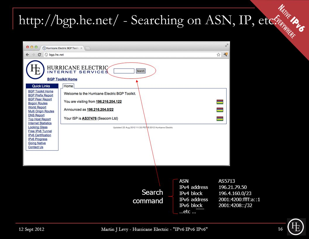 http://bgp.he.net/ - Searching on ASN, IP, etc.