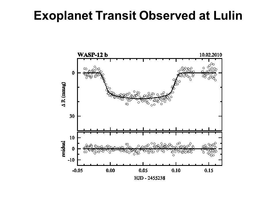 Exoplanet Transit Observed at Lulin