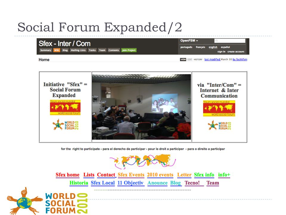 Social Forum Expanded/2