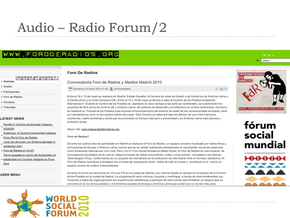 Audio – Radio Forum/2