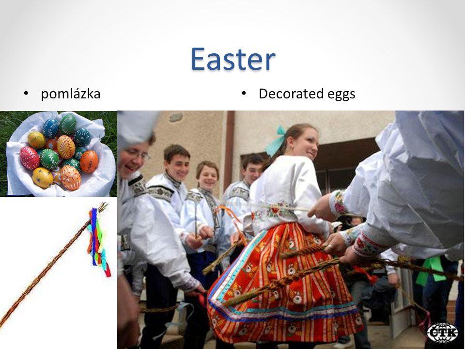 Easter Decorated eggs pomlázka