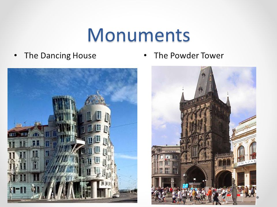 Monuments The Powder Tower The Dancing House