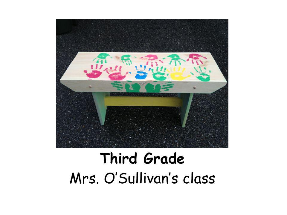 Third Grade Mrs. O'Sullivan's class