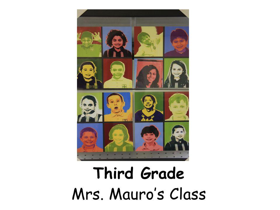Third Grade Mrs. Mauro's Class