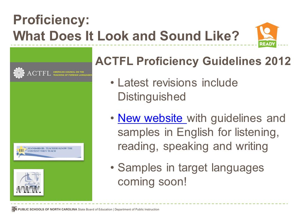 Proficiency: What Does It Look and Sound Like.