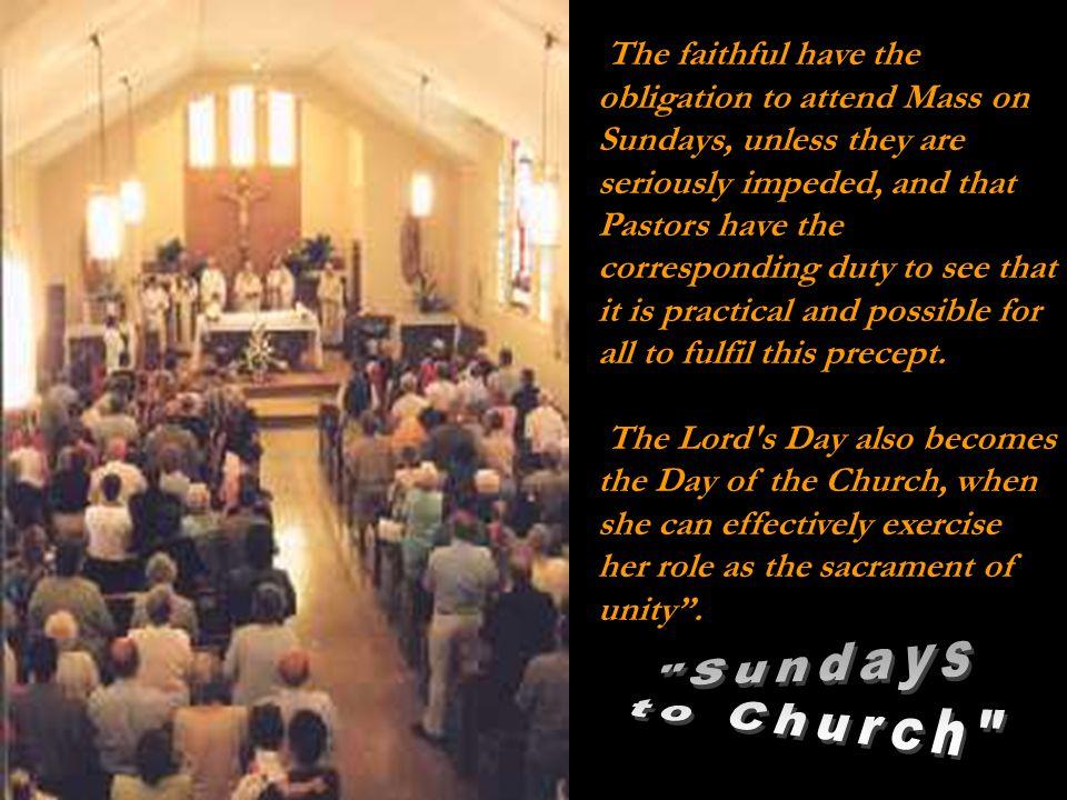 The Eucharist creates communion.