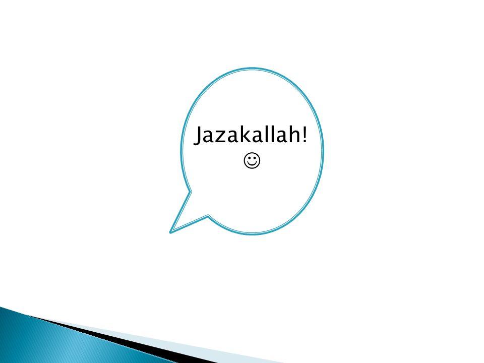 Jazakallah!