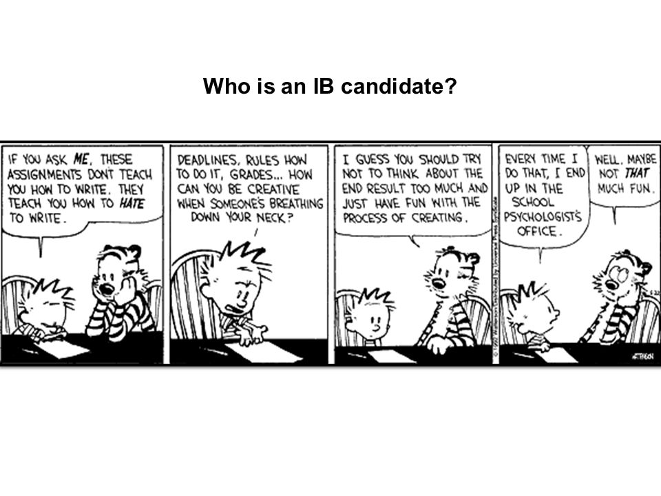 Who is an IB candidate?