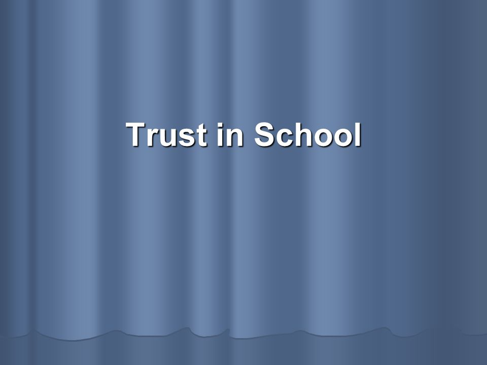 Trust becomes an indispensable strategy to deal with the opaqueness of our social environment.