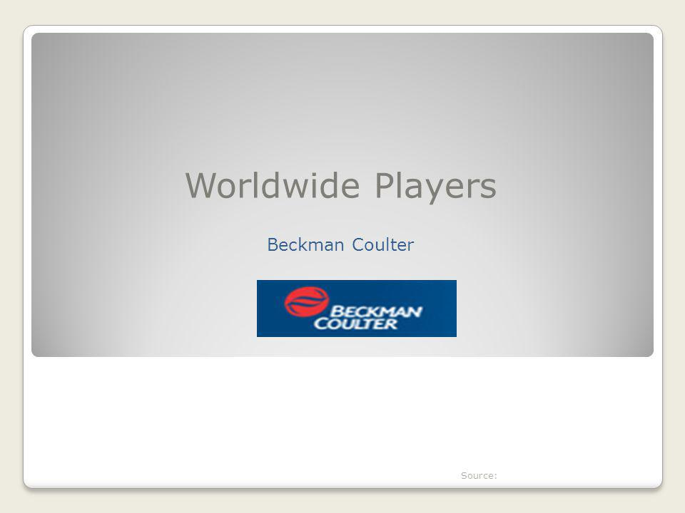 Worldwide Players Beckman Coulter Source: