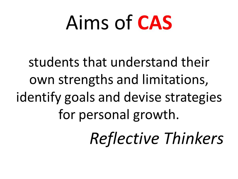 Aims of CAS willing to accept new challenges and new roles. Risk-Takers