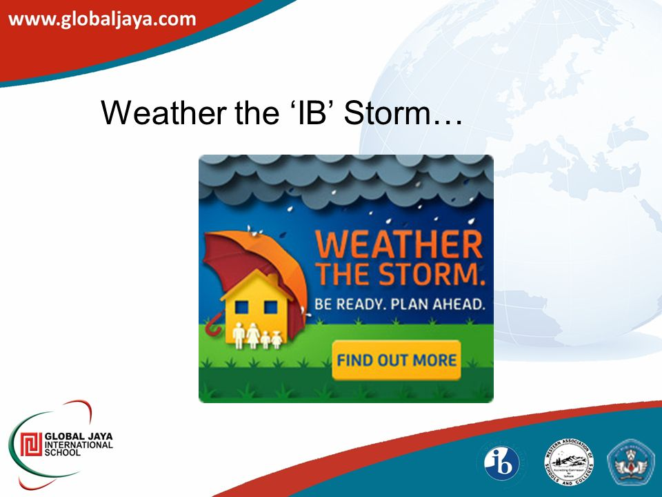 Weather the 'IB' Storm…