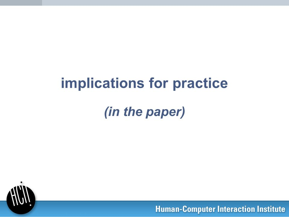 implications for practice (in the paper)