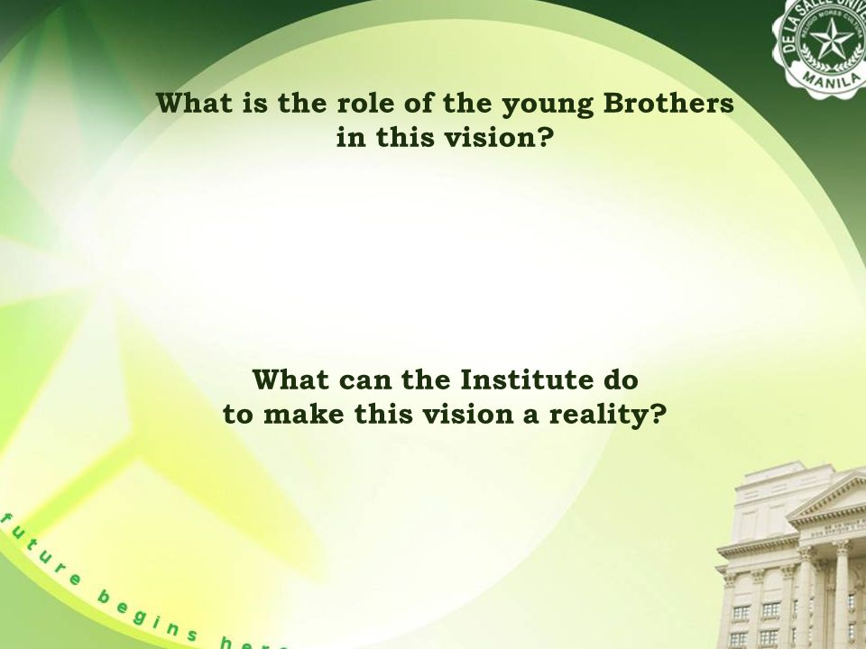 What is the role of the young Brothers in this vision.