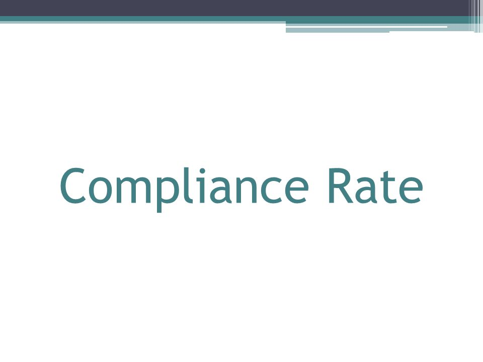 Compliance Rate
