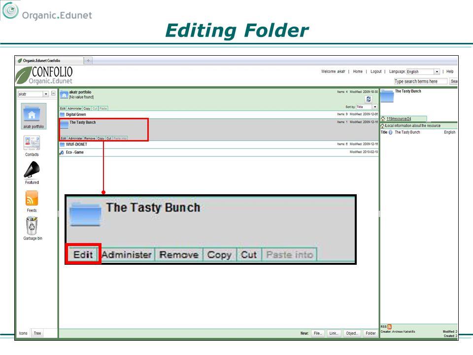 Editing Folder