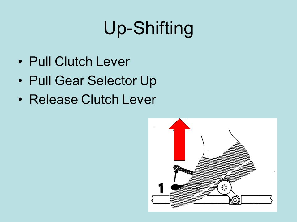 Up-Shifting Pull Clutch Lever Pull Gear Selector Up Release Clutch Lever
