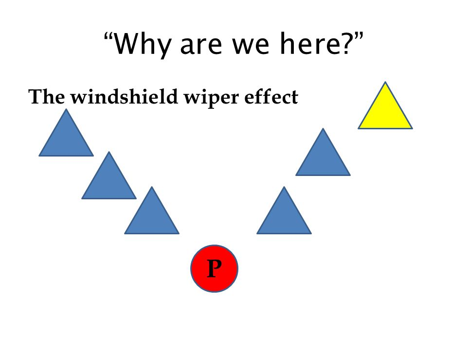 """""""Why are we here?"""" The windshield wiper effect P"""