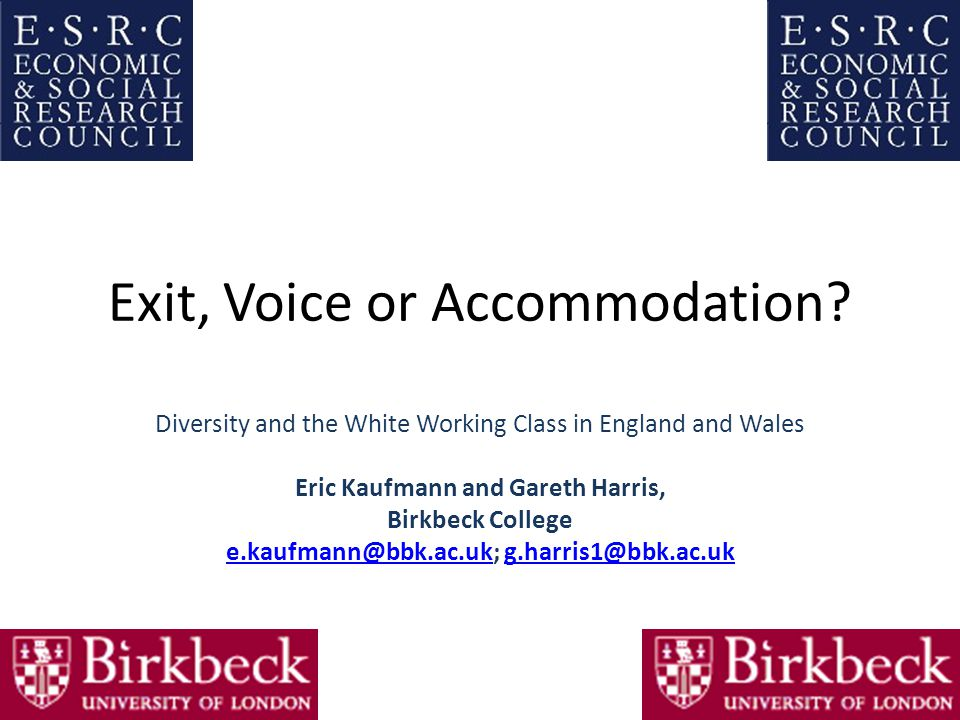 Exit, Voice or Accommodation.