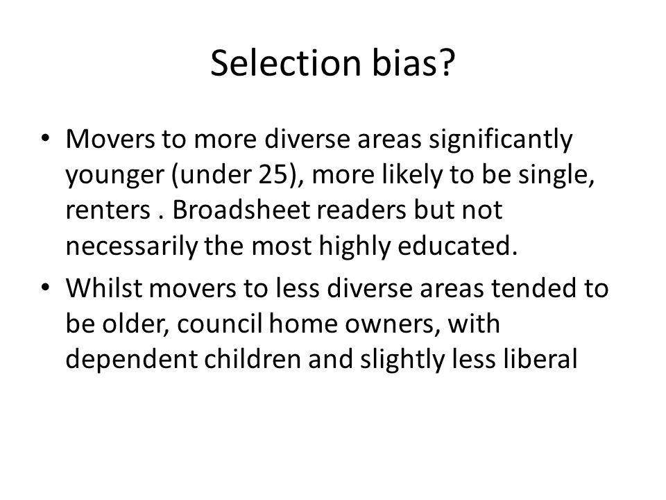 Selection bias.