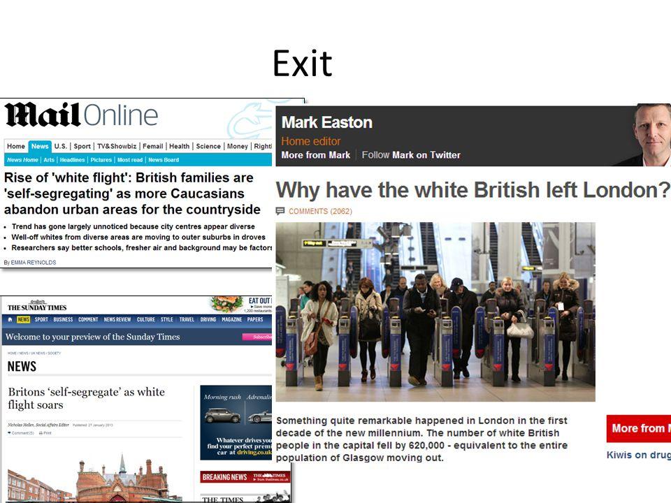 'White Flight' in England.