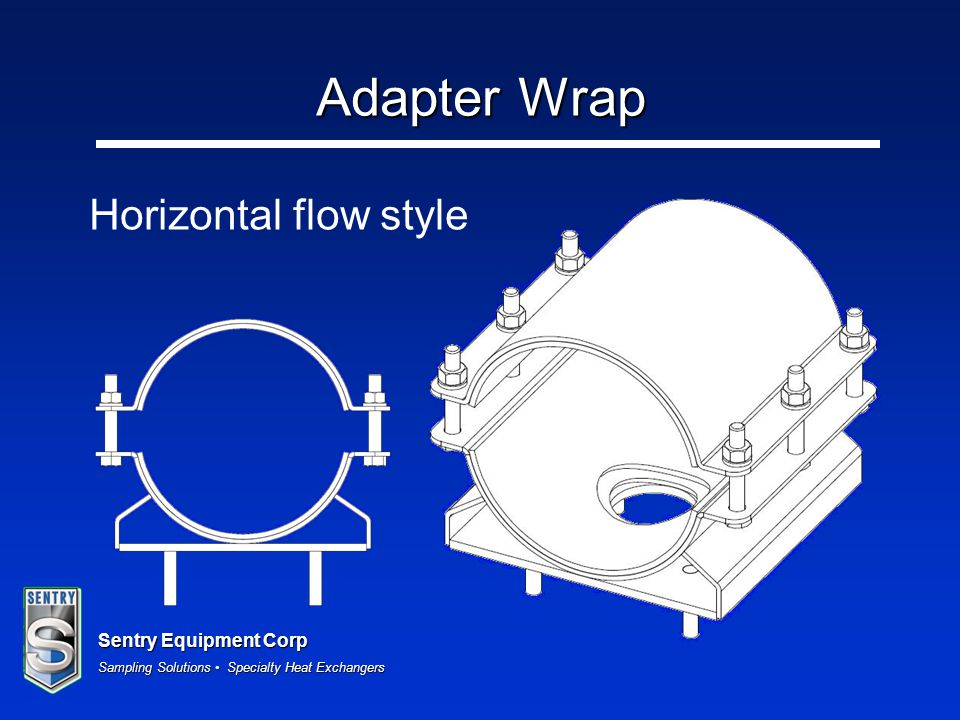 Sentry Equipment Corp Sampling Solutions Specialty Heat Exchangers Horizontal flow style Adapter Wrap