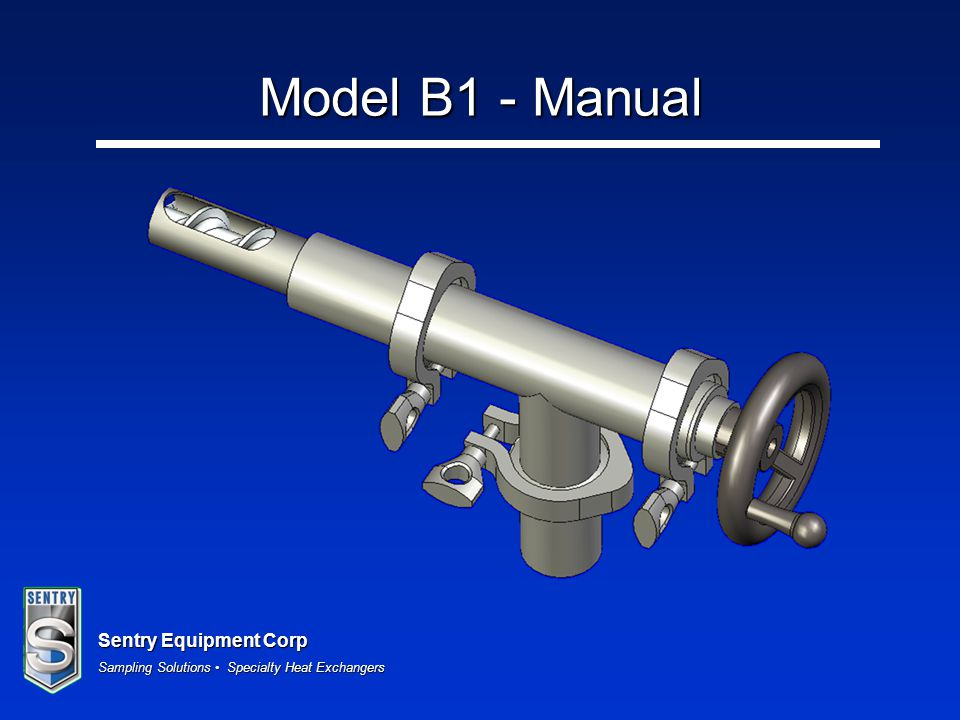 Sentry Equipment Corp Sampling Solutions Specialty Heat Exchangers Model B1 - Manual