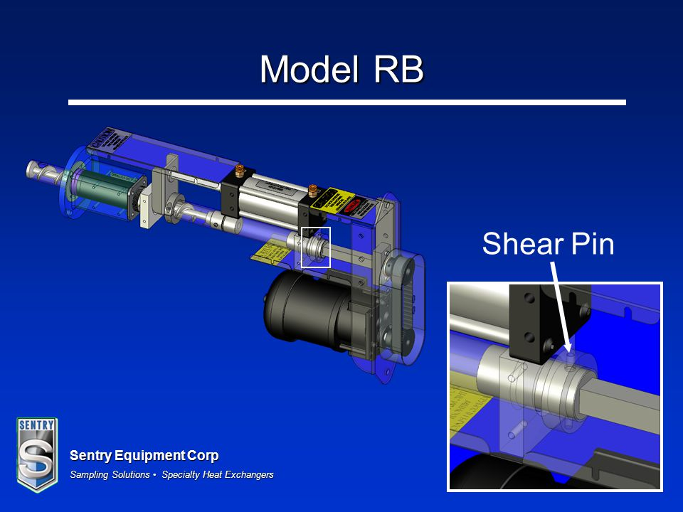 Sentry Equipment Corp Sampling Solutions Specialty Heat Exchangers Model RB Shear Pin