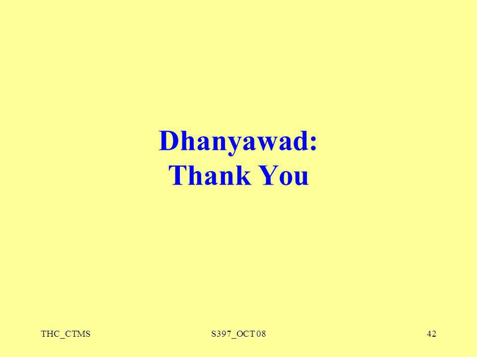 THC_CTMSS397_OCT 0842 Dhanyawad: Thank You