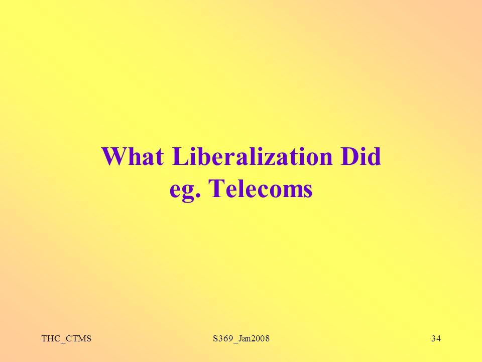 THC_CTMSS369_Jan200834 What Liberalization Did eg. Telecoms