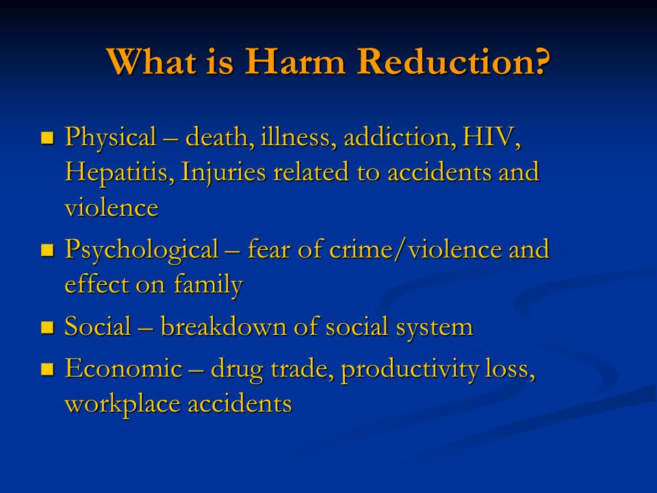 What is Harm Reduction.