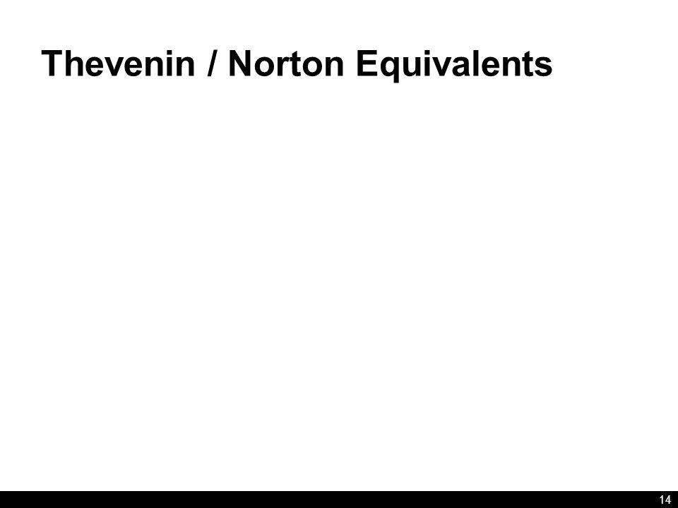 Thevenin / Norton Equivalents 14