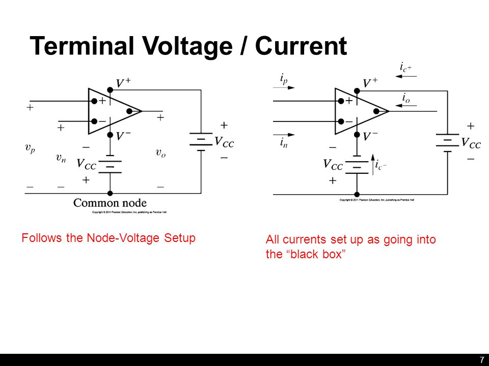 Terminal Voltage / Current 7 Follows the Node-Voltage Setup All currents set up as going into the black box