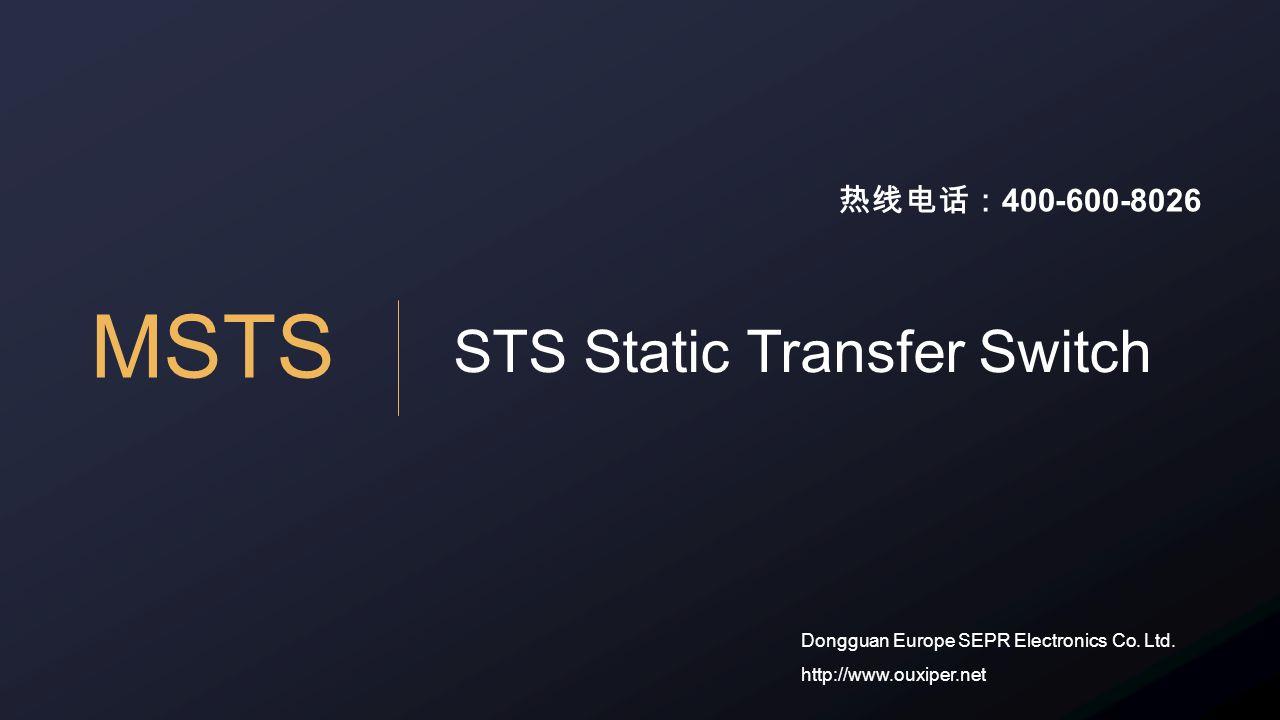 MSTS STS Static Transfer Switch Dongguan Europe SEPR Electronics Co.