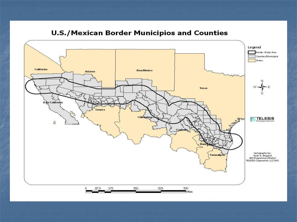 If the border were a separate state, it would rank...