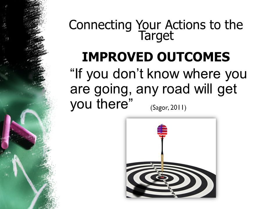Performance Targets (INDIVIDUAL OUTCOMES)  Ask yourself, What are students expected to gain from our 'actions .