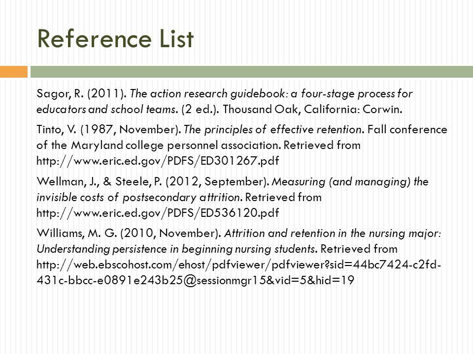 Reference List Sagor, R.(2011).