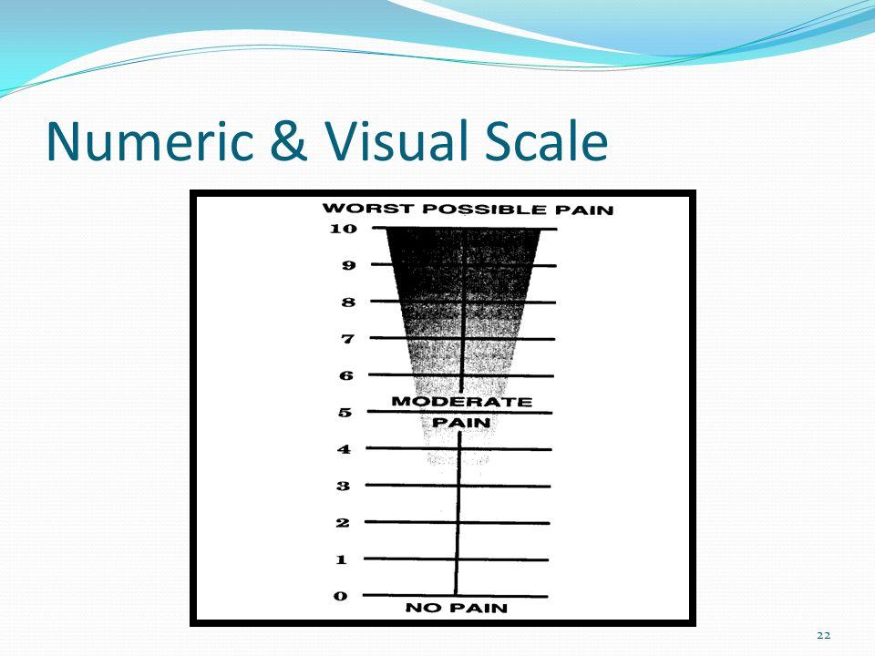 Numeric & Visual Scale 22