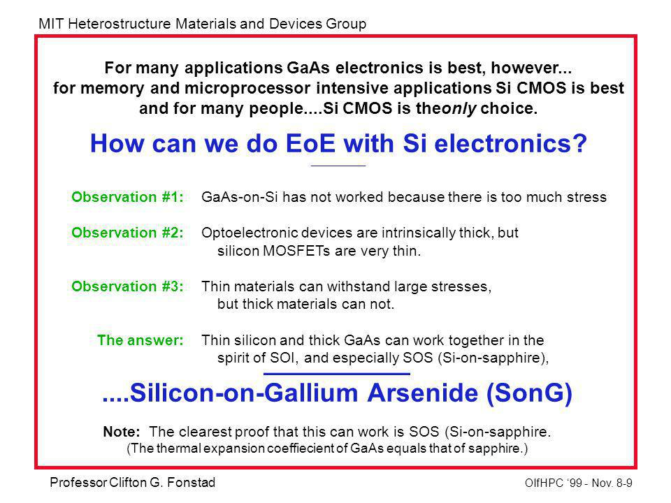 MIT Heterostructure Materials and Devices Group Professor Clifton G.