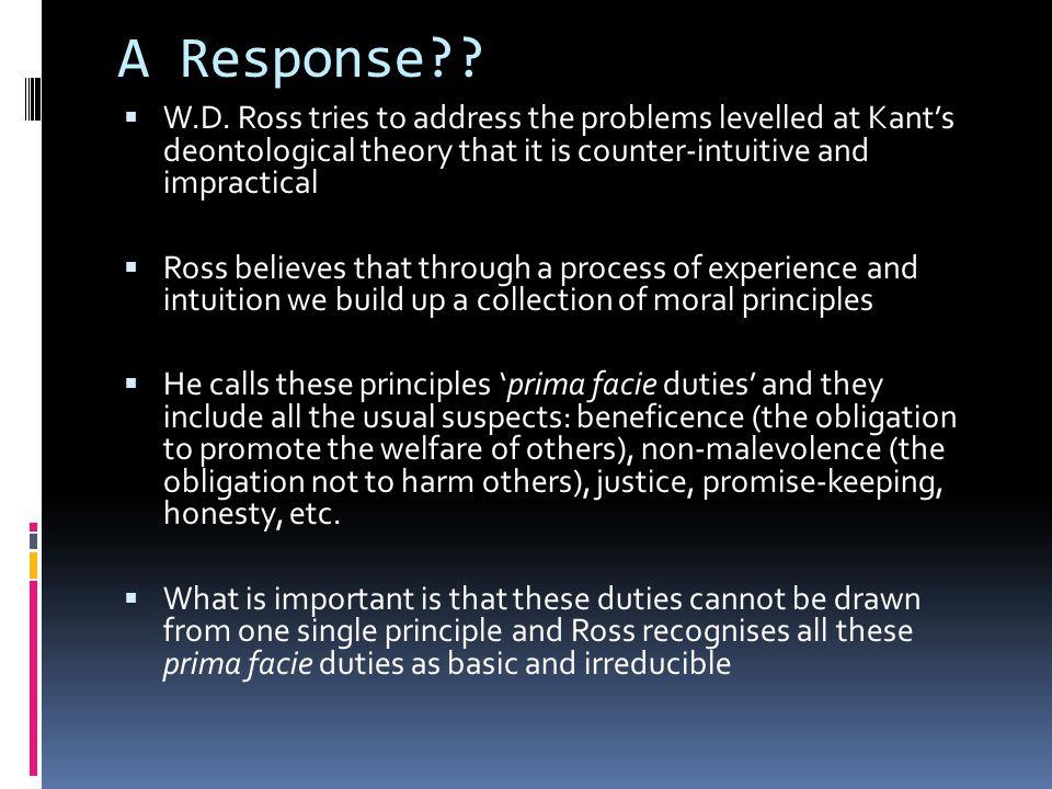 A Response?. W.D.