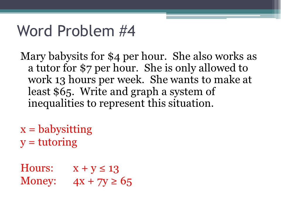 System Of Inequalities Word Problems Worksheet Tecnologialinstante – Linear Inequalities Word Problems Worksheet