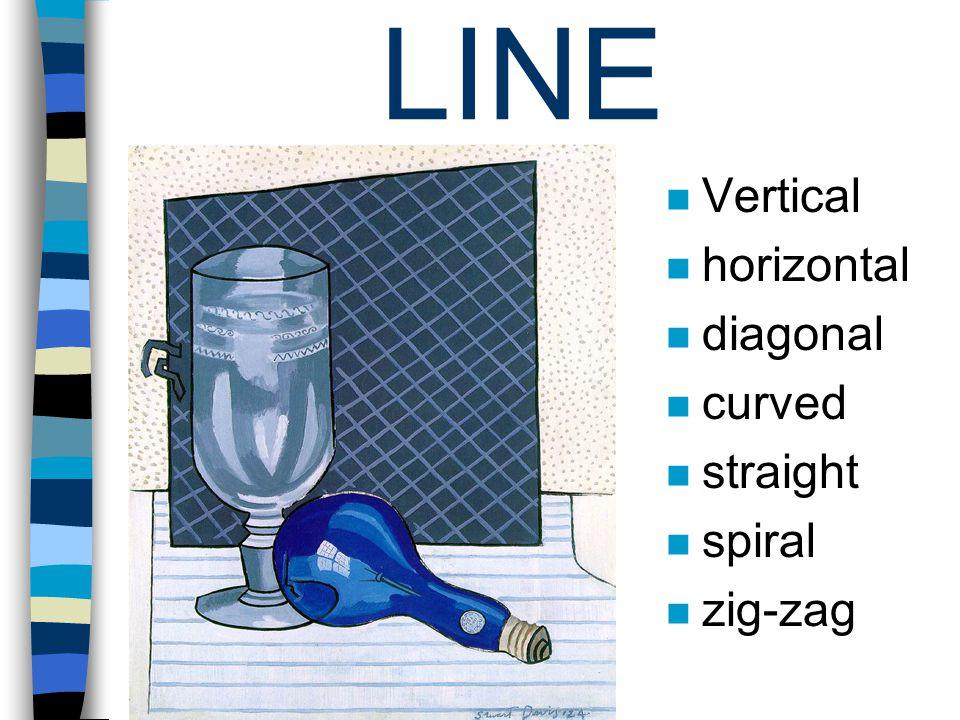 LINE Vertical horizontal diagonal curved straight spiral zig-zag