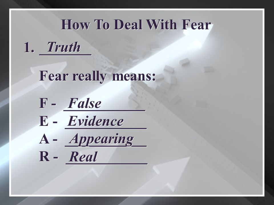 _______ How To Deal With Fear 1.