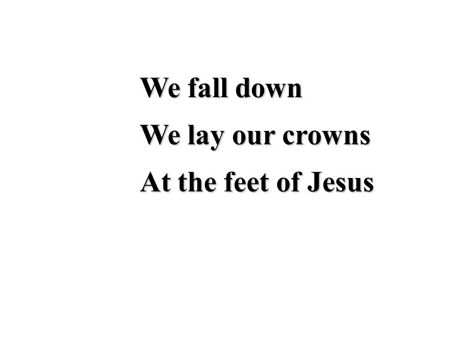 The greatness of His mercy and love At the feet of Jesus