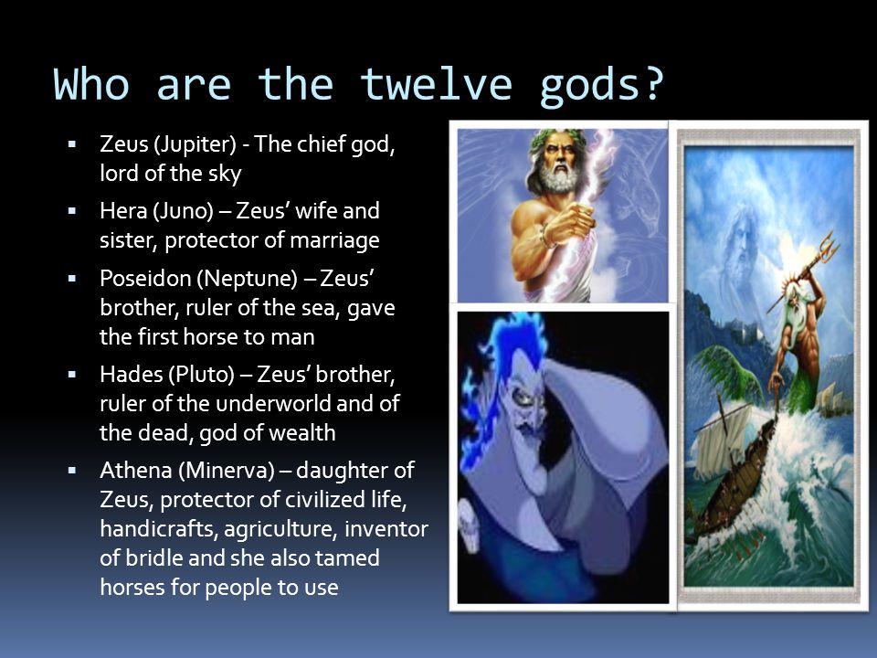Who are the twelve gods.